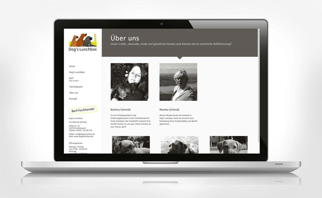 Webdesign für Dog´s Lunchbox- Über uns
