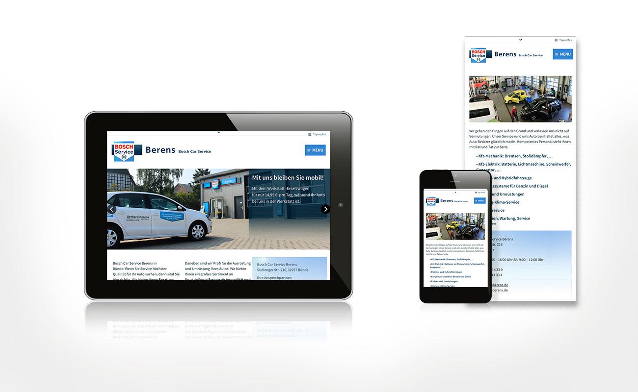 Webdesign für Bosch Berens Bünde
