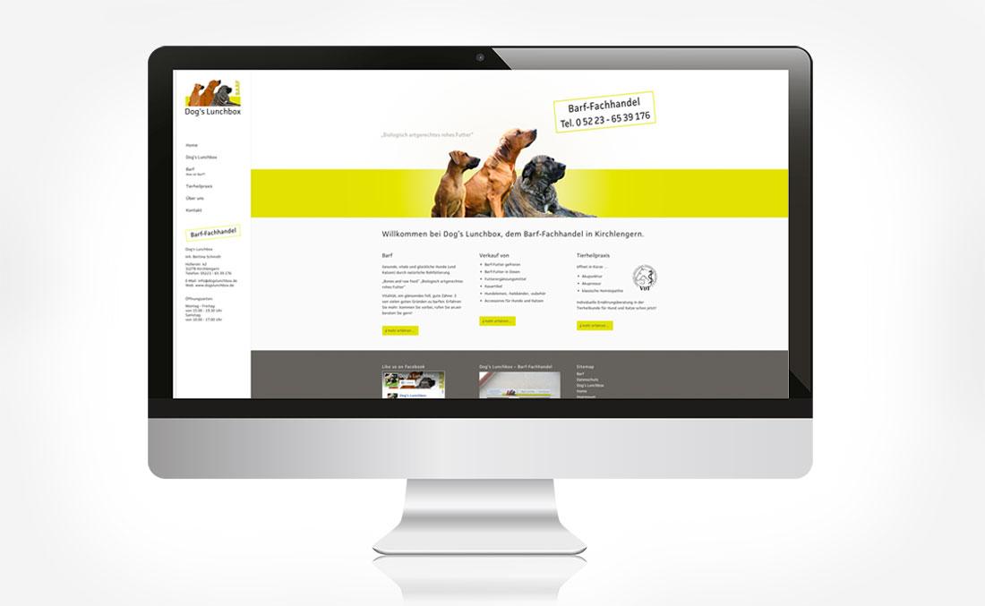 Webdesign für Dog´s Lunchbox Homeseite